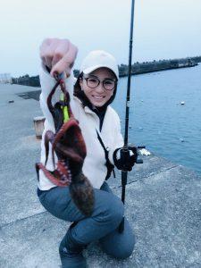 釣りガール_タコ釣り