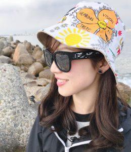 釣りガール_帽子・サングラス