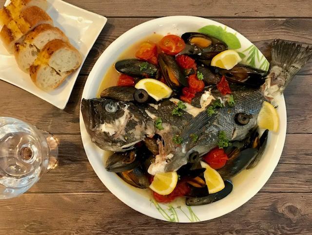 【お魚レシピ】釣ったクロソイでアクアパッツァ♪