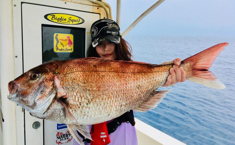 モンスター真鯛をGET!!82cmの大物でした♪