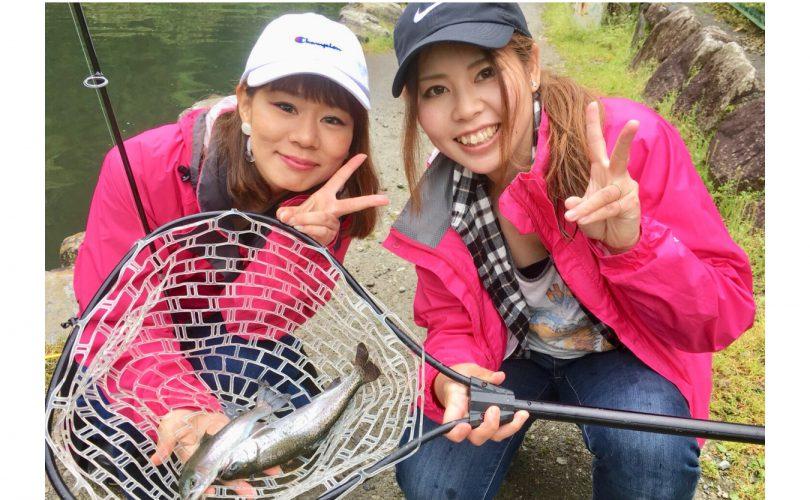 【釣り企画】関西在住の釣りガールメンバーでニジマス釣りを楽しんできました♪
