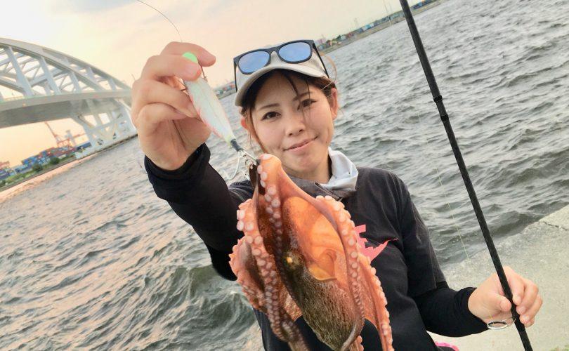 大阪の舞洲でおかっぱりタコ釣り?✨