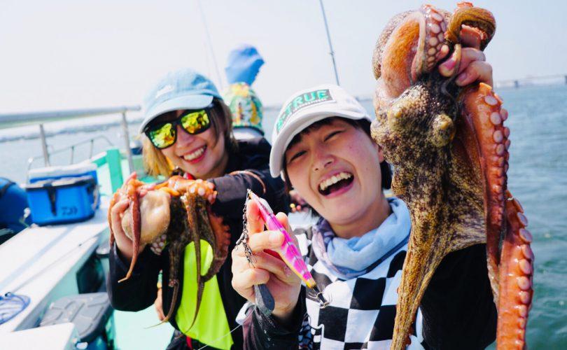 初のマダコ釣りで、まさかの入れ食い!!