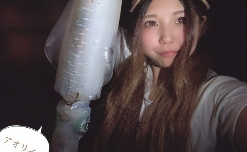 """エギングのナイトゲーム🎣🦑恐怖心VS釣り欲""""の戦い😂"""