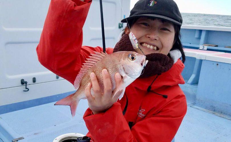 毎月恒例の真鯛釣り!時化の影響はいかに・・・