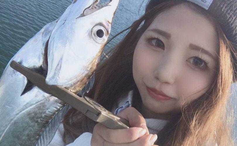 指5本サイズの太刀魚!!ドラゴンGET(´;ω;`)💓