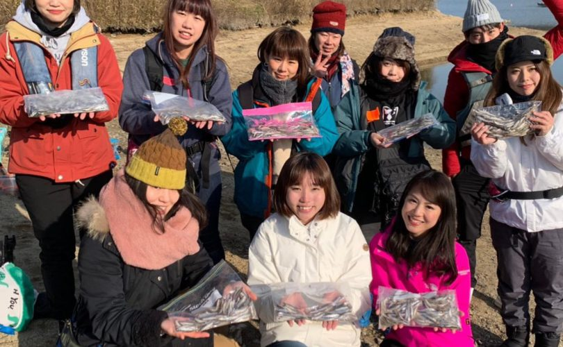 【イベント】釣りガール大集合!青野ダムでワカサギ釣り?