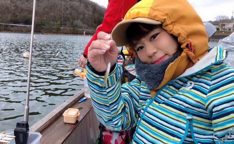 青野ダムでワカサギ釣り??