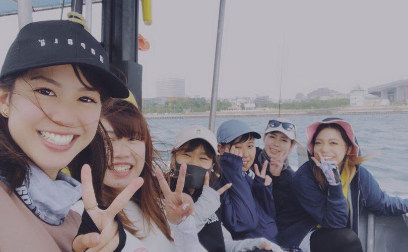 【釣り企画】釣り女子会in明石沖タイラバ船