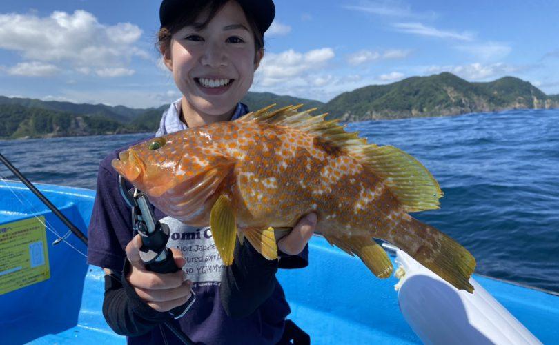 兵庫県の日本海へアコウ(キジハタ)釣りに行って来ました??