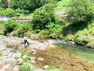 初の鮎釣り