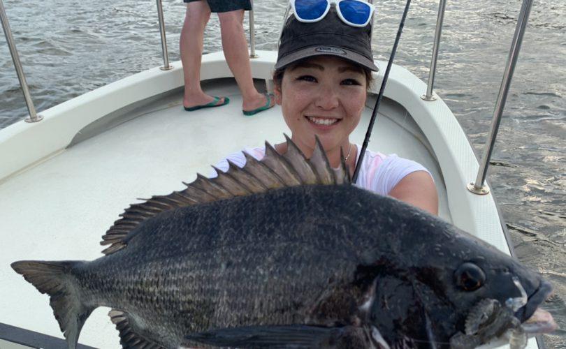 東京湾で「チニング」と「黒鯛落とし込み」の欲張り便❤
