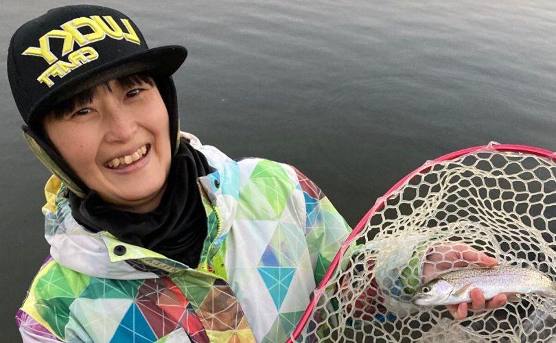 富士山を目の前に新年初釣り✨東山湖フィッシングエリアに行ってきました🎣