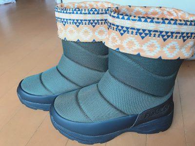 ワークマンの氷雪耐滑ケベックロングブーツを履いた足元