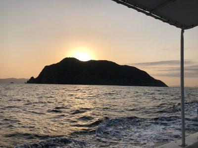山口県の蓋井島沖