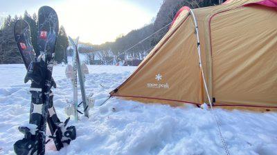 雪中スキーキャンプの様子